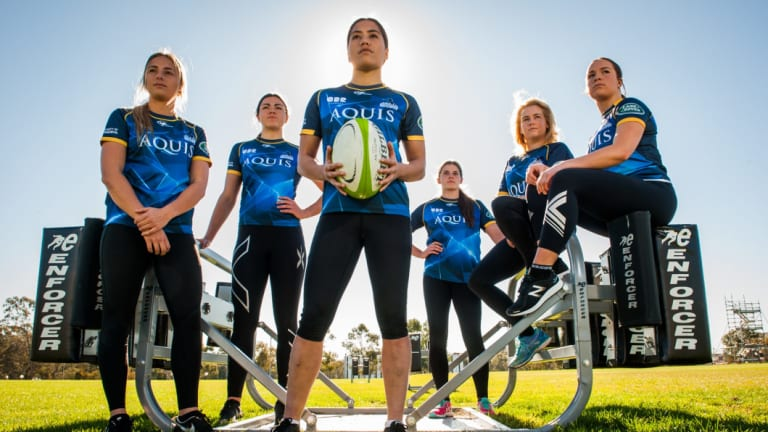 Rugby union is one of the sports in Canberra enjoying a female athlete boom.