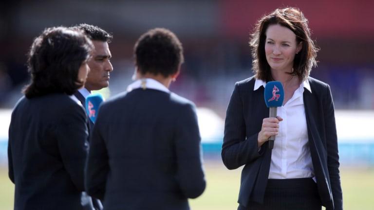 Good start: Seven cricket commentator Alison Mitchell.