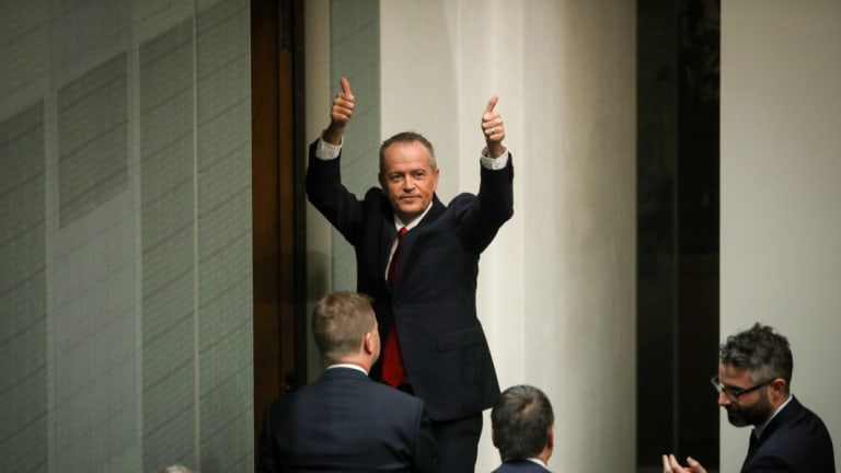 """Opposition Leader Bill Shorten promised to """"fight for the ABC"""" in his budget reply speech."""