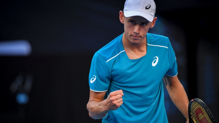 Alex De Minaur at the Australian Open.