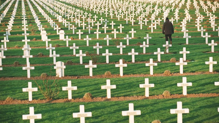 A World War I cemetery in the Somme.