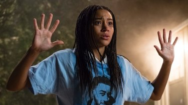 Amandla Stenberg as Starr Carter in The Hate U Give.