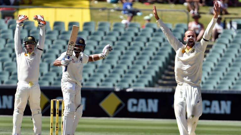 Show of faith: Nathan Lyon will have a heavier workload and more responsibility in the absence of Mitch March.