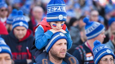 Thousands of fans showed their support for FightMND at Federation Square, in Melbourne on Queen's Birthday last year.