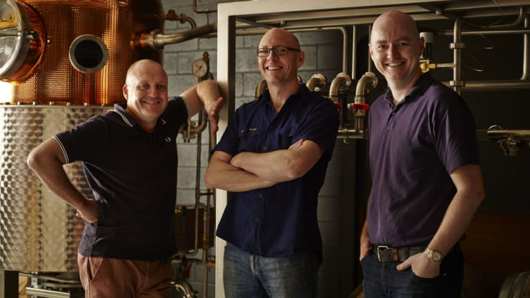 From left to right: Four Pillars co-founders Stuart Gregor, Cam MacKenzie and Matt Jones.