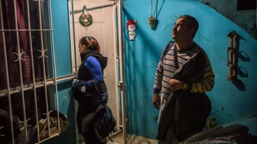Vicky Delgadillo and Carlos Salda leave their home to search a ranch where they believe their missing children are buried, in Xalapa, Mexico, June 6, 2017.