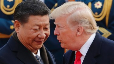 Chinese President Xi Jinping and US President Donald Trump in Beijing in November.