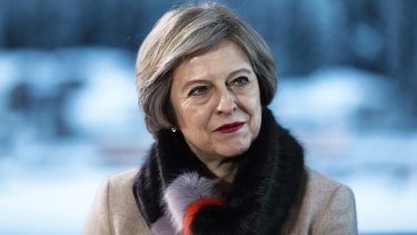 British Prime Minister Theresa May is under pressure from Brexiteers within her own government.
