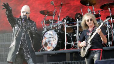 English heavy metal band Judas Priest.