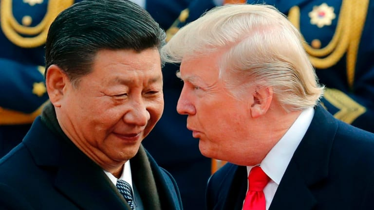 Chinese President Xi Jinping with Donald Trump in 2017.