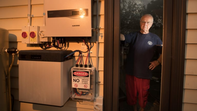 Larger, grid-scale batteries are forecast to eventually replace household batteries.