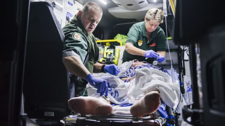 A majority of paramedic assaults occur on weekend nights, where drugs and alcohol are a factor.