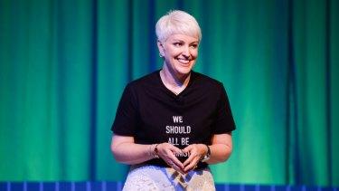 Cathie Reid speaking at an earlier Dell Women Entrepreneurs Network conference.