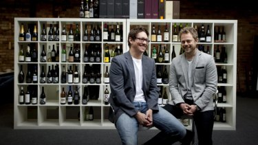 Vinomofo Co-Founders Andre Eikmeier and Justin Dry.