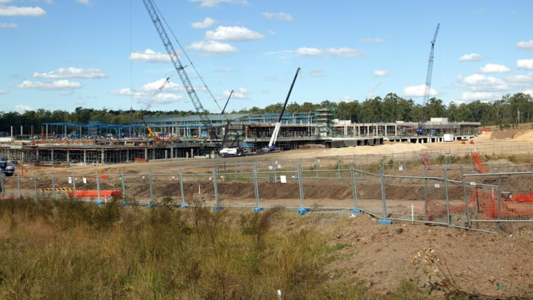 Construction of The Orion shopping centre at Greater Springfield.