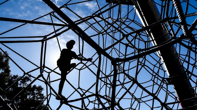 Playground safety advocates say space nets better hold large numbers and break the fall of children who come off them.