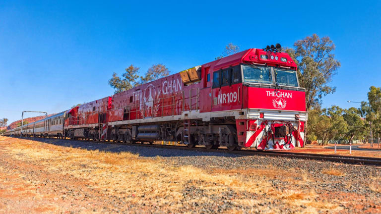 In January, more than half a million viewers watched this train make its way across Australia.