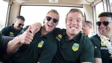 Jokers : Cherry-Evans and Jake Trbojevic on Kangaroos duty.