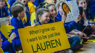 Lauren Wells has turned her attention to inspiring the students at Giralang Primary.