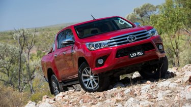 Toyota says it aims to offer an electric version of all its models by 2025, including the HiLux, pictured.
