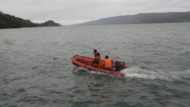 An Indonesian search and rescue team.
