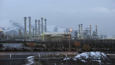 The heavy water nuclear facility near Arak, 250 kilometres south-west of Tehran.