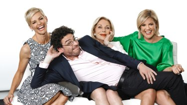 Happier times: Ita Buttrose with her former colleagues on Studio Ten.