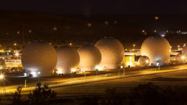 The secretive Pine Gap facility, photographed in 2016.