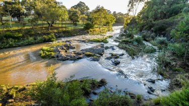 The Merri flows through Melbourne's northern suburbs before joining the Yarra.