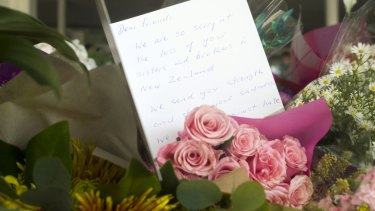 Messages of support for the victims of the Christchurch shooting left at Melbourne's Newport Mosque.