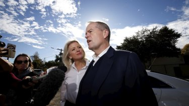 Bill Shorten and his wife Chloe return home on Sunday after the weekend's election.