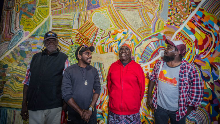 Muuki, Ignatius, Nola and Curtis Taylor told their stories in the award-winning Songlines.