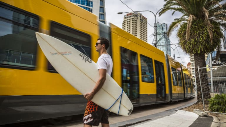 The Gold Coast light-rail project cost about $1.4 billion.
