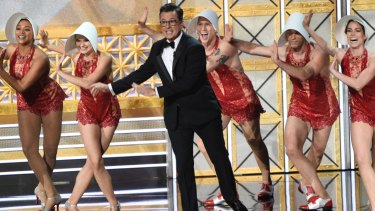 The all-singing, all-dancing Handmaid's Tale? Stephen Colbert 's opening Emmy number.
