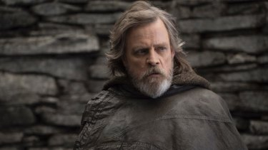 Mark Hamill as Luke Skywalker in Star Wars.