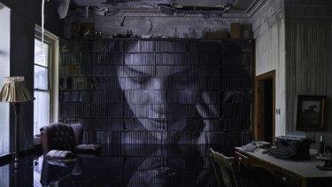 Haunting artwork at Burnham Beeches manor.