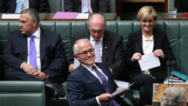 Malcolm Turnbull during question time, the day after he became prime minister.