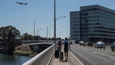 Some travellers avoid the station access fee by walking from nearby Wolli Creek to the airport's international terminal.