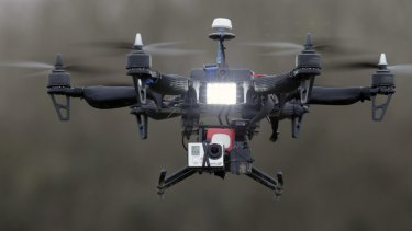 Drones would hover over crowds at major events under Victoria Police's counter-terrorism plan.