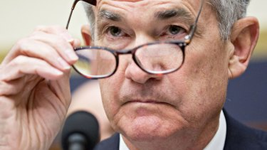 US Federal Reserve Board chairman Jerome Powell. The Fed may reconsider the rate rise expected next month in the light of the financial market turmoil.
