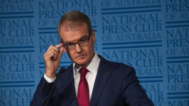 NSW Labor leader Michael Daley at the National Press Club on Wednesday where he endorsed the student strike on climate action.