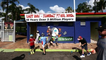 Ermington Putt Putt closed to make way for new apartments.