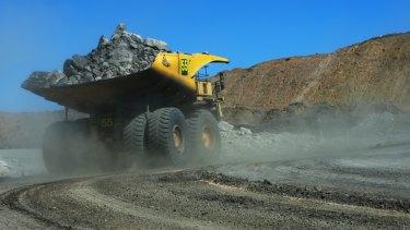 A truck on-site at the Goonyella Riverside Mine.