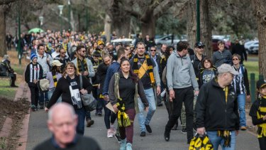 Collingwood and Richmond supporters turned out in their thousands for one of the biggest games of the season.