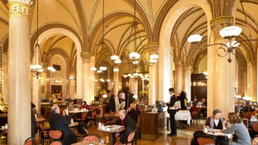 Vienna's ornate Cafe Central.