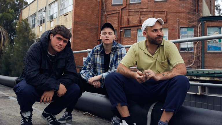 DMA's members (L-R) Johnny Took, Tommy O'Dell and Matt Mason, have a cult following in the United Kingdom.