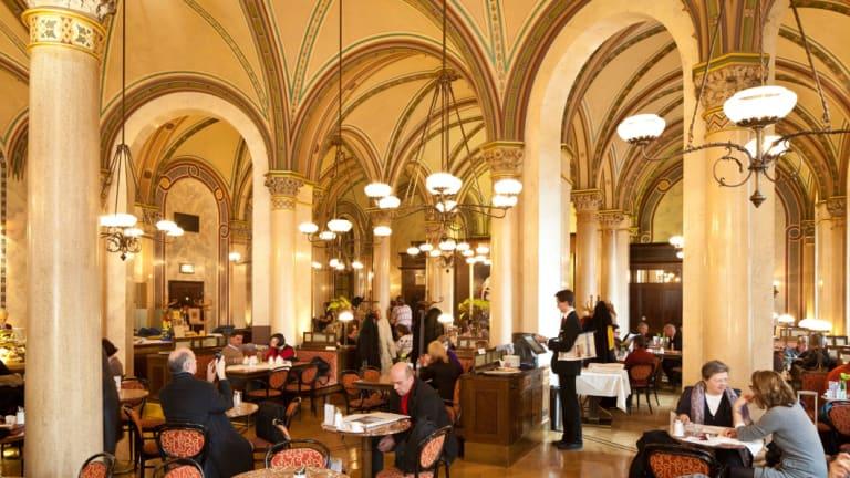 Vienna's ornate Cafe Central.