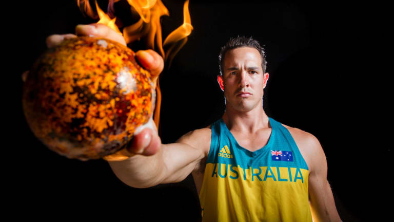 Para-athletics shot put world champion and volunteer firefighter Cameron Crombie.