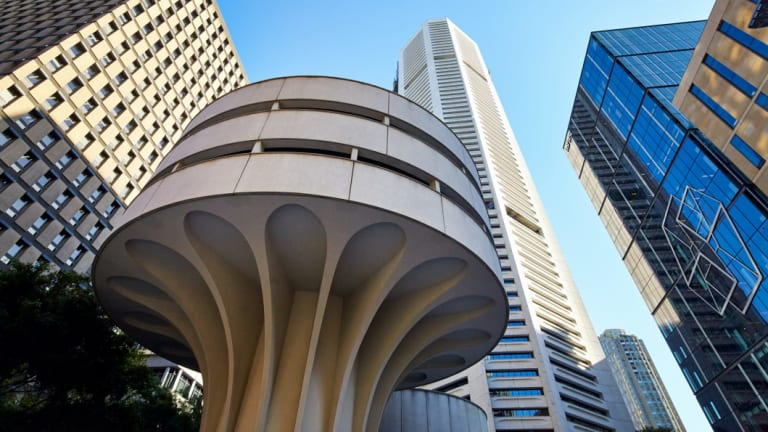 The MLC Centre in Martin Place is one of Sydney's most prominent examples of Modern Movement design.