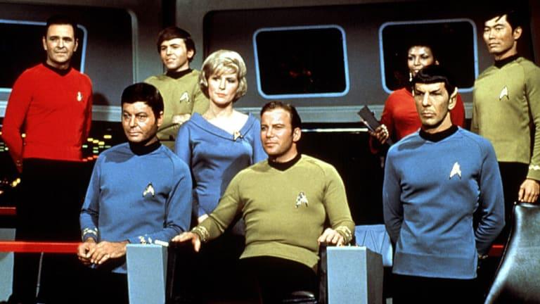 "The cast of the 1966 Star Trek ""original series""."